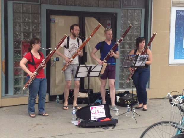 Busking at World Pride 2014. Photo by Church Wellesley Neighbourhood Association.