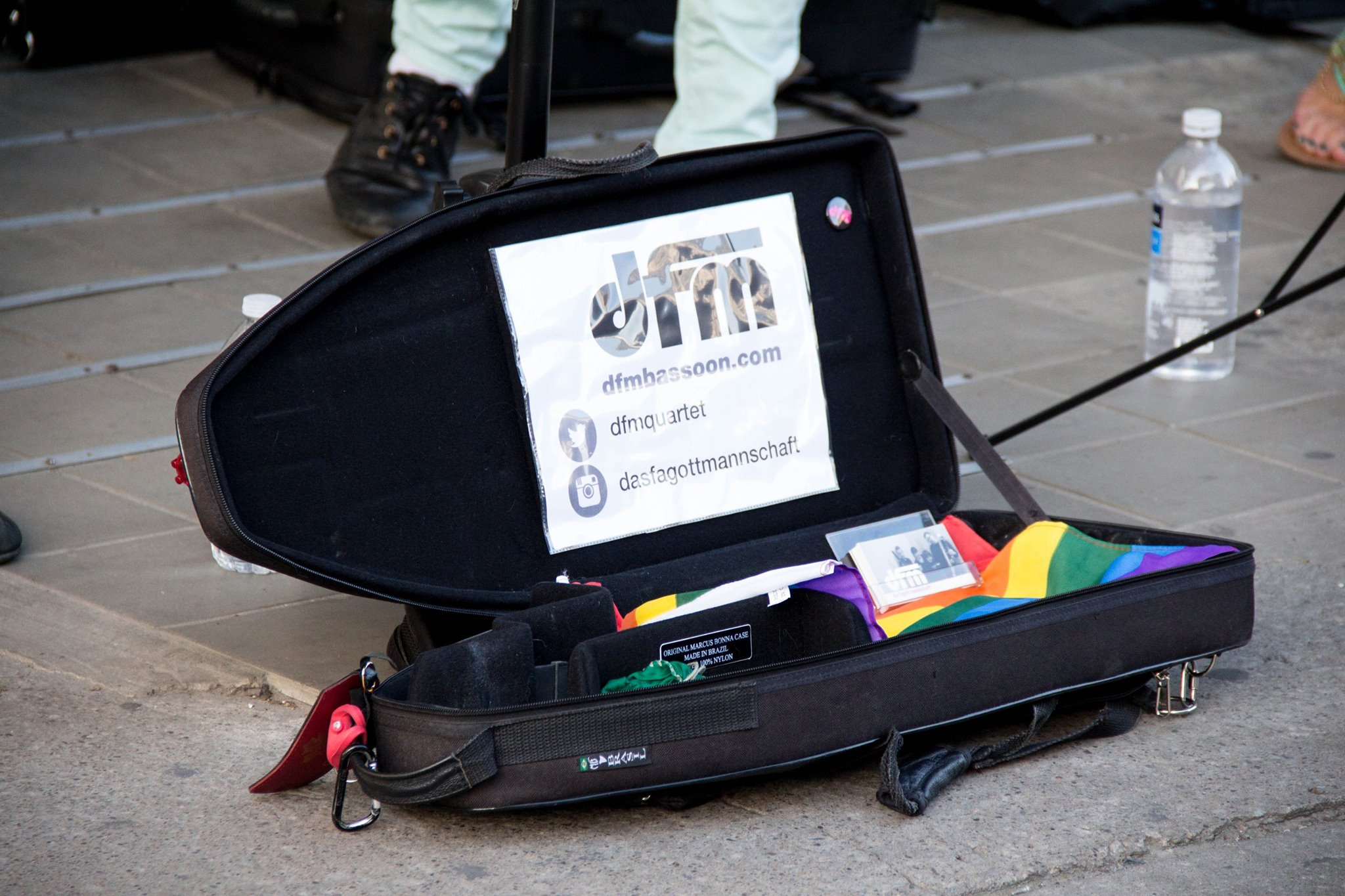 Our festive busking case for World Pride 2014. Photo by Terry Lim.
