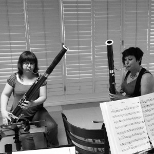 Catherine and Susan working on Africa by Toto during a rehearsal June 2014. Photo by Neil Bishop.
