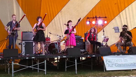 Performing at the Northern Lights Festival Boréal in Sudbury, Ontario. (2014)