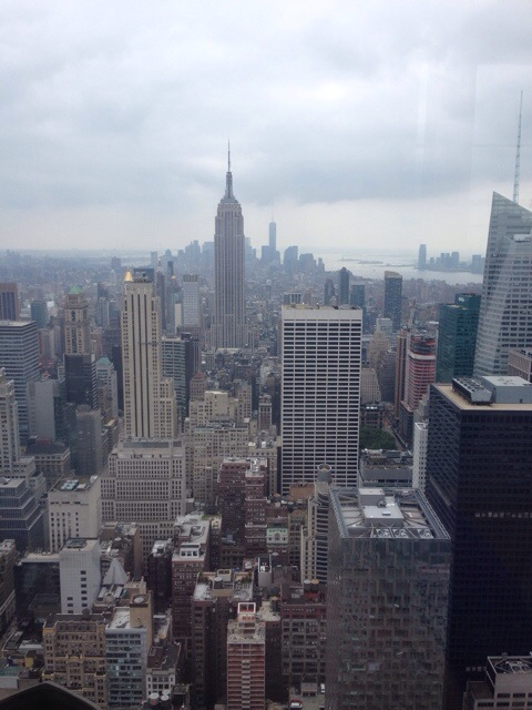 Oh hey there Manhattan! (From the top of Rockefeller Centre