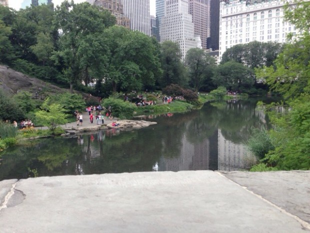 Relaxing in Central Park.