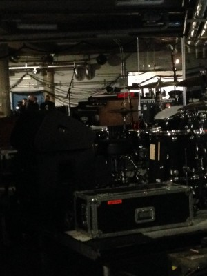 Some of the equipment backstage.